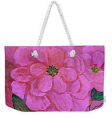 Pink Rose Flowers Weekender Tote Bag