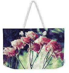 Pink Rose Flowers Weekender Tote Bag