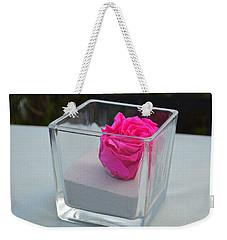 Pink Rose In Venice Weekender Tote Bag