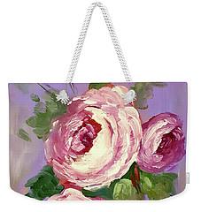 Pink Rose Weekender Tote Bag by Janet Garcia
