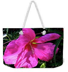 Pink Rose Mallow In Colorado Weekender Tote Bag