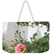 Pink Rose Of Tulsa Weekender Tote Bag