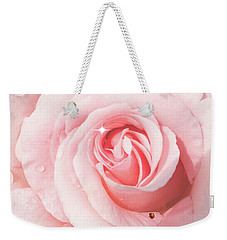 Pink Rose With Rain Drops Weekender Tote Bag