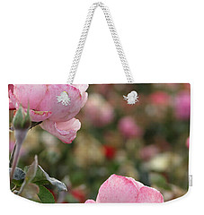 Weekender Tote Bag featuring the photograph Pink Roses by Laurel Powell