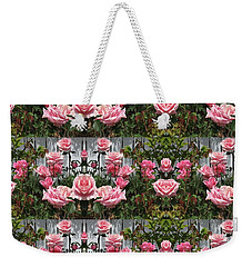 Pink Roses  Weekender Tote Bag by Nora Boghossian