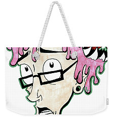 Weekender Tote Bag featuring the drawing Pink Savage  by Iconic Images Art Gallery David Pucciarelli
