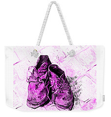 Weekender Tote Bag featuring the photograph Pink Shoes by John Stephens
