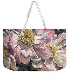 Pink Single Peonies Weekender Tote Bag