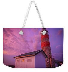 Pink Skies At Cape Moreton Lighthouse Weekender Tote Bag