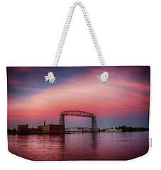 Pink Sky, Blue Water Weekender Tote Bag
