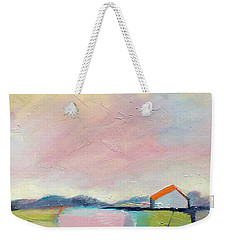 Weekender Tote Bag featuring the painting Pink Sky by Michelle Abrams