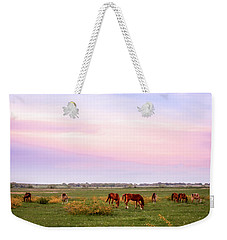 Weekender Tote Bag featuring the photograph Pink Sky Night by Melinda Ledsome