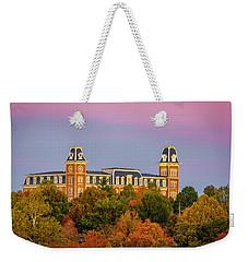 Pink Sky Over Old Main  Weekender Tote Bag