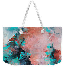 Weekender Tote Bag featuring the painting Pink Sky by Suzzanna Frank