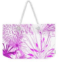 Pink Splash Watercolor Weekender Tote Bag by Methune Hively