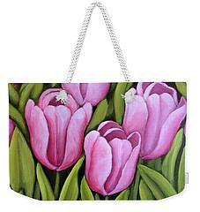Pink Spring Tulips Weekender Tote Bag