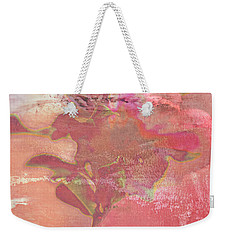 Pink Striped Tulip Flower Weekender Tote Bag by Suzanne Powers