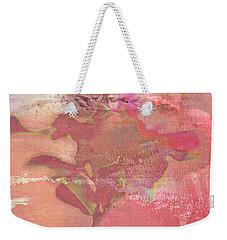 Pink Striped Tulip Flower Weekender Tote Bag