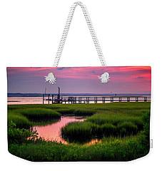 Pink Sunrise At Bogue Sound Weekender Tote Bag