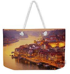 Pink Sunset In Porto Weekender Tote Bag