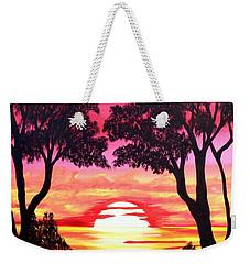Pink Sunset Weekender Tote Bag