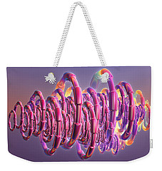 Pink Swirls Weekender Tote Bag by Rosalie Scanlon