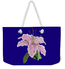 Weekender Tote Bag featuring the digital art Pink Tiger Lily Blossom by Walter Colvin