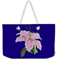 Pink Tiger Lily Blossom Weekender Tote Bag