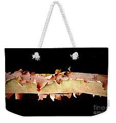 Pink Tree Bark Weekender Tote Bag