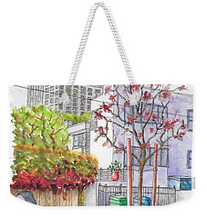 Pink Tree In Roxbury Park, Beverly Hills, California Weekender Tote Bag