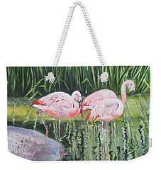 Pink Trio Weekender Tote Bag