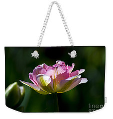 Weekender Tote Bag featuring the photograph Pink Tulip by Angela DeFrias