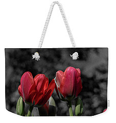 Pink Tulip Pop Weekender Tote Bag