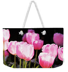 Pink Tulips Weekender Tote Bag