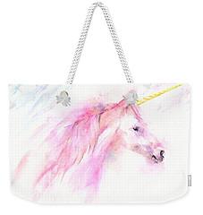 Pink Unicorn Weekender Tote Bag