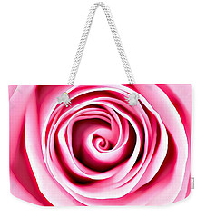 Weekender Tote Bag featuring the mixed media Pink Vortex by Lucia Sirna