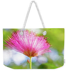 Weekender Tote Bag featuring the photograph Pink Wisps Of Spring by Jessica Manelis