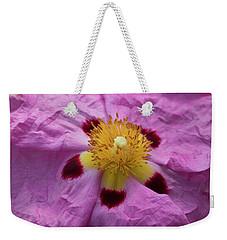 Pink Wrinkles Weekender Tote Bag