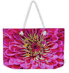 Pink Zinnia Glow Weekender Tote Bag