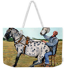 Weekender Tote Bag featuring the painting Pinky And Gert by Tom Roderick
