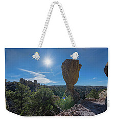 Weekender Tote Bag featuring the photograph Pinnacle Rock by Dan McManus