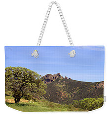 Weekender Tote Bag featuring the photograph Pinnacles Vista by Art Block Collections
