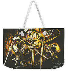 Weekender Tote Bag featuring the photograph Pins Of Horror Fashion by Jorgo Photography - Wall Art Gallery