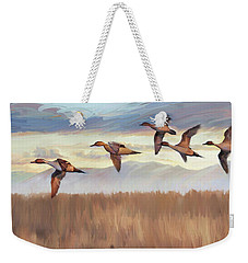 Pintail Fly By Weekender Tote Bag by Rob Corsetti