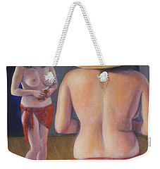 Weekender Tote Bag featuring the painting Pinup #3 by Donelli  DiMaria
