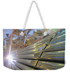 Weekender Tote Bag featuring the photograph Pipe Organ Of La Sagrada by Christin Brodie