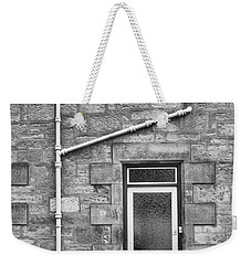 Weekender Tote Bag featuring the photograph Pipes And Doorway by Christi Kraft
