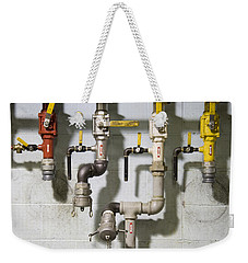 Pipes And Valves Weekender Tote Bag by Alexey Stiop