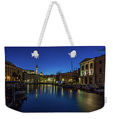 Weekender Tote Bag featuring the photograph Piran Marina Dawn - Slovenia by Stuart Litoff