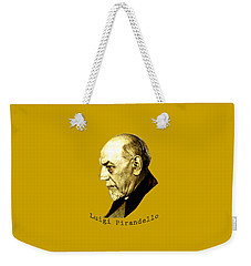Weekender Tote Bag featuring the digital art Pirandello by Asok Mukhopadhyay